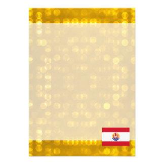 Bandeira polinésia francesa oficial convite 12.27 x 17.78cm