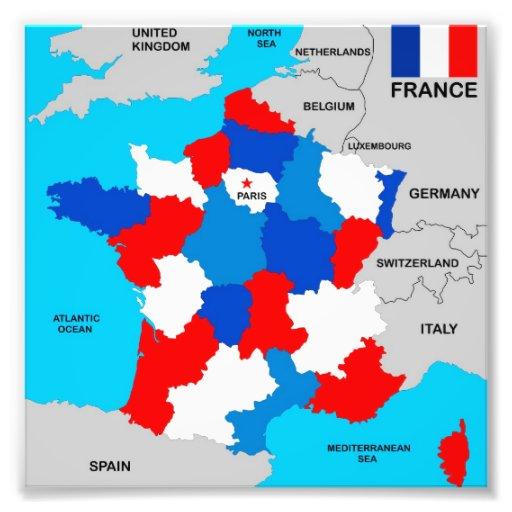 bandeira política do mapa do país de france artes de fotos