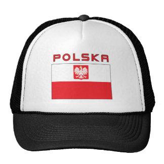 Bandeira polonesa do falcão com Polska Boné