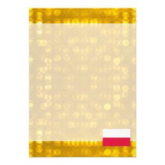 Bandeira polonesa do oficial convite 12.27 x 17.78cm