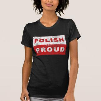 Bandeira polonesa e orgulhosa tshirt