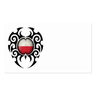 Bandeira polonesa rachada tribal preta