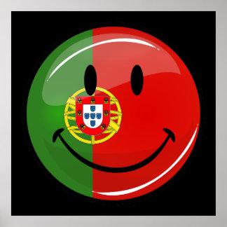 Bandeira portuguesa de sorriso poster
