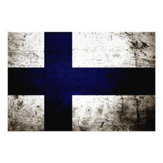 Bandeira preta de Finlandia do Grunge Foto Arte