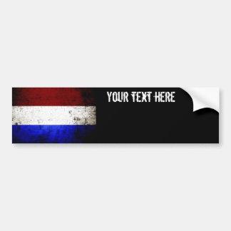 Bandeira preta de Países Baixos do Grunge Adesivo Para Carro