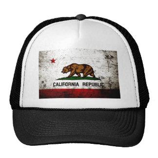 Bandeira preta do estado de Califórnia do Grunge Boné