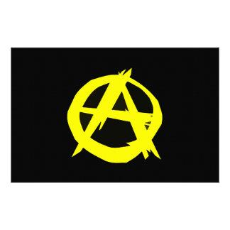Bandeira preta e amarela do capitalismo de Anarcho Papelaria