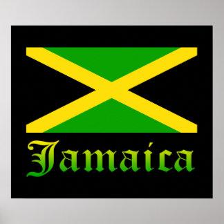 Bandeira, preto, verde e amarelo de Jamaica Posters
