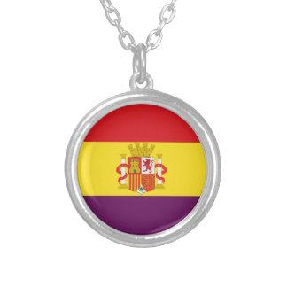 Bandeira republicana espanhola - bandera República Colar Banhado A Prata