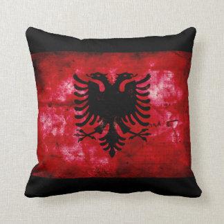 Bandeira resistida de Albânia Travesseiro