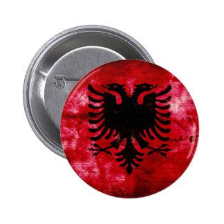 Bandeira resistida de Albânia Boton