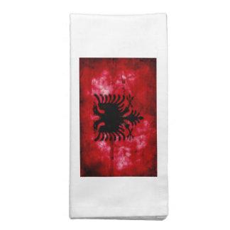 Bandeira resistida de Albânia Guardanapo De Pano