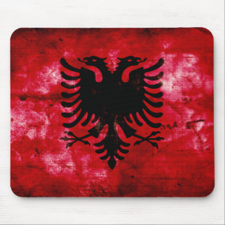 Bandeira resistida de Albânia Mouse Pads