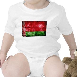 Bandeira resistida de Belarus Macacãozinho Para Bebês