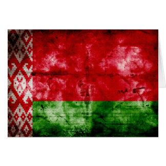 Bandeira resistida de Belarus Cartão De Nota