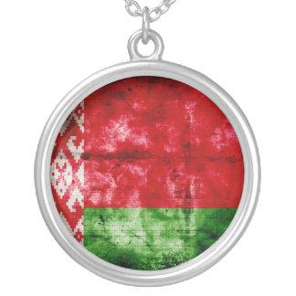 Bandeira resistida de Belarus Colar Com Pendente Redondo