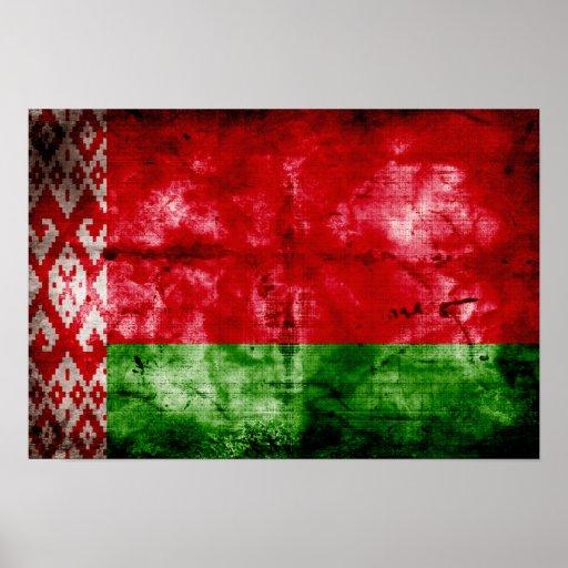 Bandeira resistida de Belarus Impressão