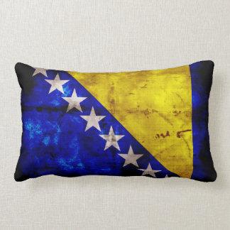 Bandeira resistida de Bósnia Travesseiro De Decoração