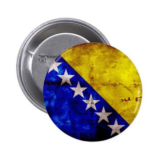 Bandeira resistida de Bósnia Boton
