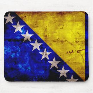 Bandeira resistida de Bósnia Mousepad