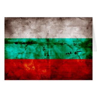 Bandeira resistida de Bulgária Cartão De Nota