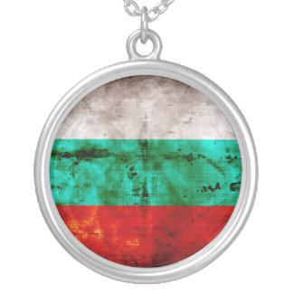 Bandeira resistida de Bulgária Colar Com Pendente Redondo