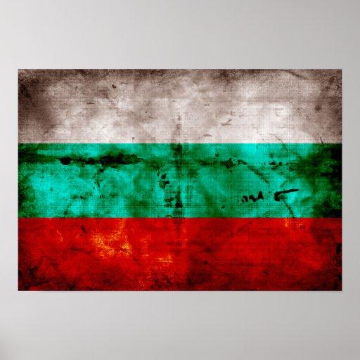 Bandeira resistida de Bulgária Impressão