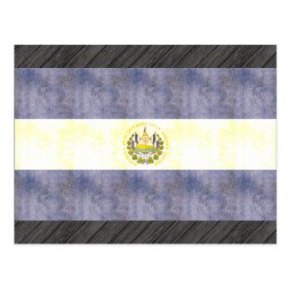 Bandeira retro de El Salvador do vintage Cartão Postal