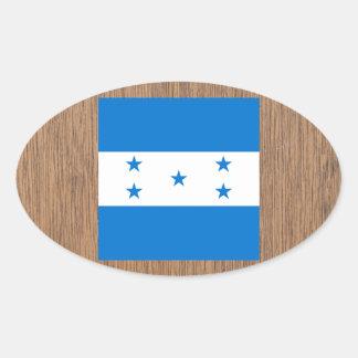 Bandeira retro de Honduras Adesivo Oval