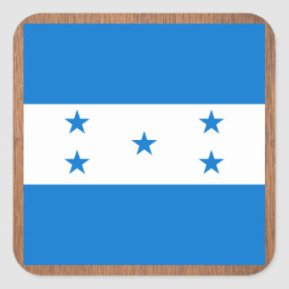 Bandeira retro de Honduras Adesivo Quadrado
