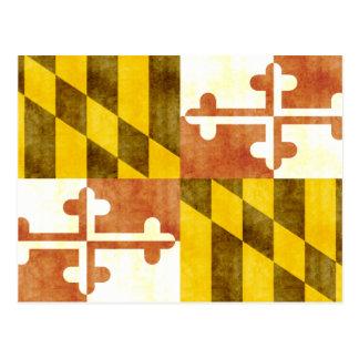 Bandeira retro de Maryland do vintage Cartão Postal