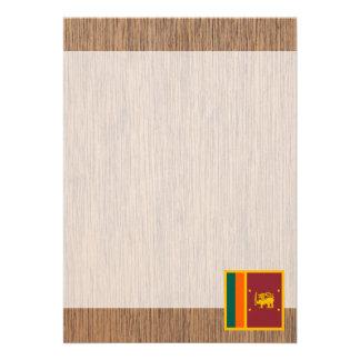 Bandeira retro de Sri Lanka Convite 12.27 X 17.78cm