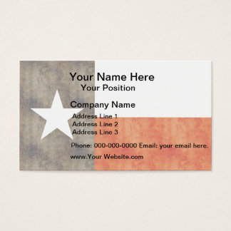 Bandeira retro de Texas do vintage Cartão De Visitas