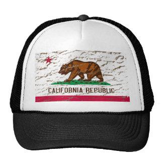 Bandeira retro lavada máquina de Califórnia Bonés