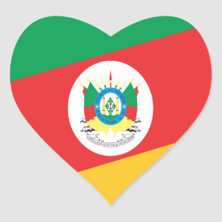 Bandeira Rio Grande do Sul  Brasil Adesivo Coração