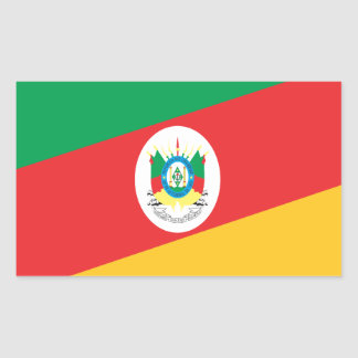 Bandeira Rio Grande do Sul  Brasil Adesivo Retangular