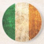 Bandeira riscada e vestida do irlandês do vintage porta copos para bebidas