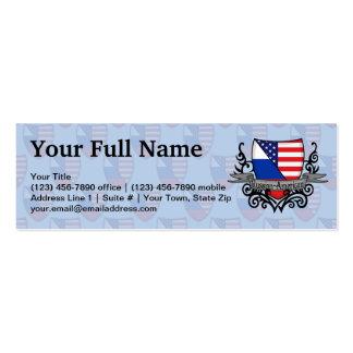 Bandeira Russo-Americana do protetor Cartões De Visitas