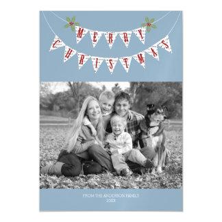Bandeira rústica - cartões de foto de Natal