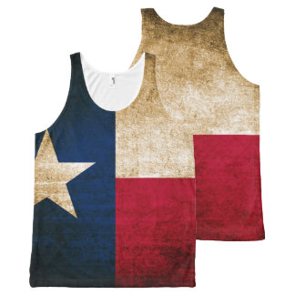 Bandeira rústica do vintage de Texas Regata Com Estampa Completa
