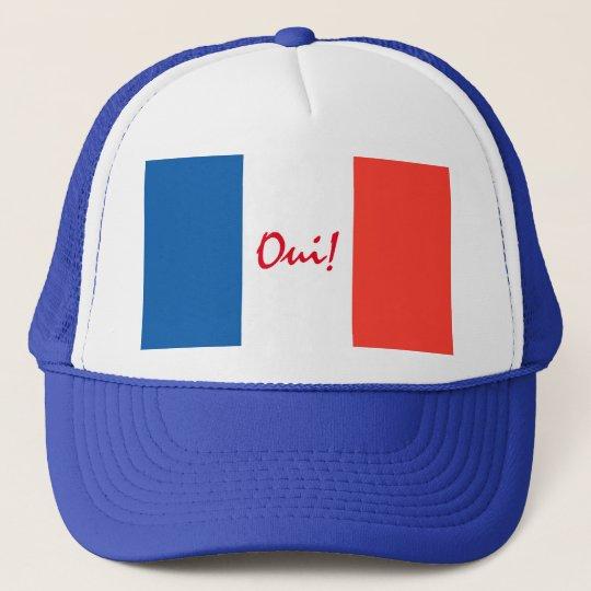 Bandeira sim francesa de Oui customizável Boné