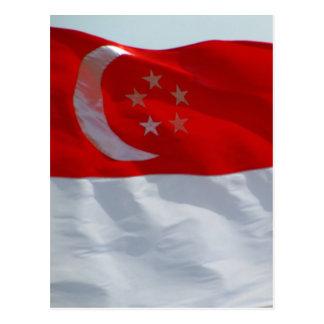 bandeira singapurense cartoes postais