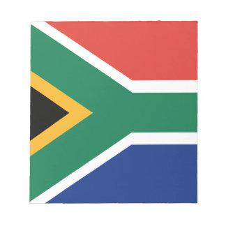 Bandeira Southafrican Bloco De Notas
