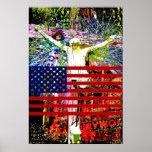 Bandeira star spangled do crescimento de Hollywood Poster