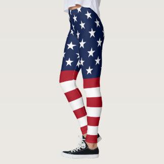 Bandeira star spangled dos EUA Leggings