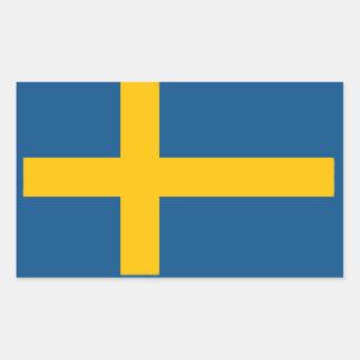 Bandeira sueco adesivo retangular