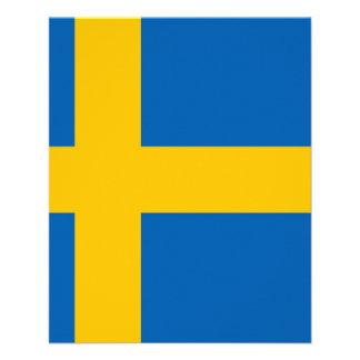 Bandeira sueco panfleto coloridos