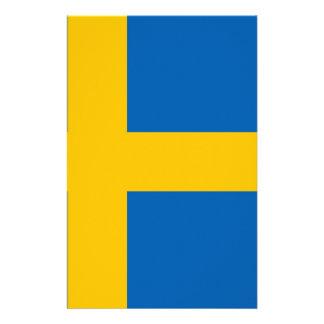 Bandeira sueco panfletos