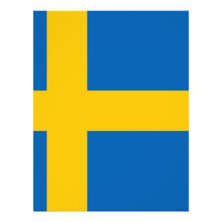 Bandeira sueco panfleto