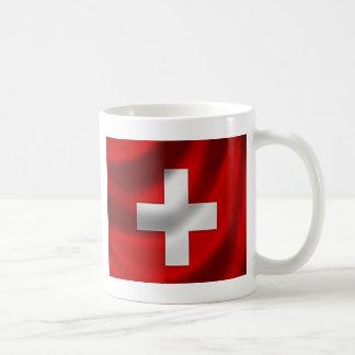 Bandeira suíça caneca de café